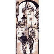 "Канва/ткань с нанесенным рисунком Матрёнин посад ""Городская ратуша"""