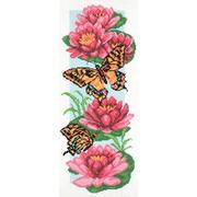 """Канва/ткань с нанесенным рисунком Матрёнин посад """"Цветы и бабочки"""""""