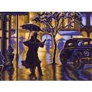 "Канва/ткань с нанесенным рисунком Матрёнин посад ""Танец под дождем"""
