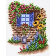 """Канва/ткань с нанесенным рисунком Матрёнин посад """"Окно в сад"""""""