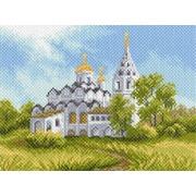 "Канва/ткань с нанесенным рисунком Матрёнин посад ""Белая церковь"""