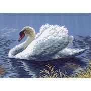 """Канва/ткань с нанесенным рисунком Матрёнин посад """"Белый лебедь"""""""