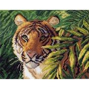"""Канва/ткань с нанесенным рисунком Матрёнин посад """"Тигр в зарослях"""""""