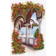 """Канва/ткань с нанесенным рисунком Матрёнин посад """"Уголок Греции"""""""
