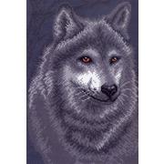 """Канва/ткань с нанесенным рисунком Матрёнин посад """"Серый волк"""""""