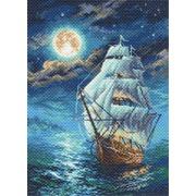 """Канва/ткань с нанесенным рисунком Матрёнин посад """"Ночной морской пейзаж"""""""