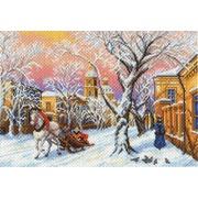 "Канва/ткань с нанесенным рисунком Матрёнин посад ""Зимний вечер"""