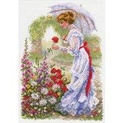 """Канва/ткань с нанесенным рисунком Матрёнин посад """"В цветущем саду"""""""