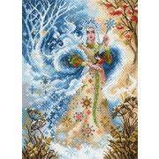 "Канва/ткань с нанесенным рисунком Матрёнин посад ""Волшебница зима"""