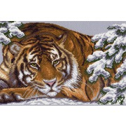 """Канва/ткань с нанесенным рисунком Матрёнин посад """"Снежный тигр"""""""