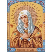"""Канва/ткань с нанесенным рисунком Матрёнин посад """"Пресвятая Богородица Умиление"""""""