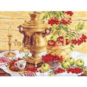 "Канва/ткань с нанесенным рисунком Матрёнин посад ""Самовар с фруктами"""