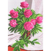 """Канва/ткань с нанесенным рисунком Матрёнин посад """"Розы в вазе"""""""
