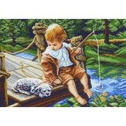 """Канва/ткань с нанесенным рисунком Матрёнин посад """"На рыбалке"""""""