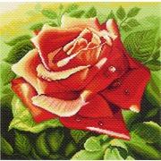 """Канва/ткань с нанесенным рисунком Матрёнин посад """"Красная роза"""""""