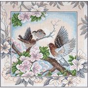 """Канва/ткань с нанесенным рисунком Матрёнин посад """"Птички 2"""""""