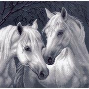 "Канва/ткань с нанесенным рисунком Матрёнин посад ""Лошади"""