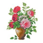 """Канва/ткань с нанесенным рисунком Матрёнин посад """"Розовый букет"""""""