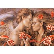 """Канва/ткань с нанесенным рисунком Матрёнин посад """"Прикосновение Ангела"""""""