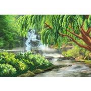 "Канва/ткань с нанесенным рисунком Матрёнин посад ""Ива над рекой"""