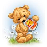 """Канва/ткань с нанесенным рисунком Матрёнин посад """"Мишка Рыбы"""""""