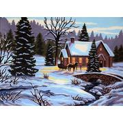 "Канва/ткань с нанесенным рисунком Gobelin-L ""Время года зима"""