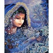 "Канва/ткань с нанесенным рисунком Конёк ""Зимушка зима"""