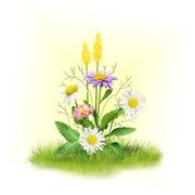 """Набор для вышивания лентами Матрёнин посад """"Ромашки с цветочками"""""""