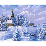 """Набор для раскрашивания Белоснежка """"Зима в деревне"""""""