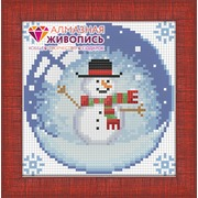 """Набор для выкладывания мозаики Алмазная живопись """"Новогодний шарик со снеговиком"""""""