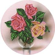 """Канва/ткань с нанесенным рисунком Глурия (Астрея) """"Розы на холсте"""""""