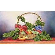 """Канва/ткань с нанесенным рисунком Глурия (Астрея) """"Корзина с фруктами"""""""