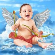 """Канва/ткань с нанесенным рисунком Глурия (Астрея) """"Малыш Купидон"""""""