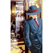 """Канва/ткань с нанесенным рисунком Глурия (Астрея) """"Ресторан 2"""""""