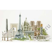 """Набор для вышивания крестом Thea Gouverneur """"Париж"""""""