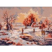 """Канва/ткань с нанесенным рисунком Gobelin-L """"Зима"""""""