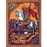 """Канва/ткань с нанесенным рисунком Diamant """"Святой Георгий"""""""