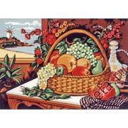 """Канва/ткань с нанесенным рисунком Diamant """"Натюрморт с корзиной фруктов"""""""