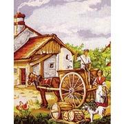 """Канва/ткань с нанесенным рисунком Gobelin-L """"Сельские будни"""""""