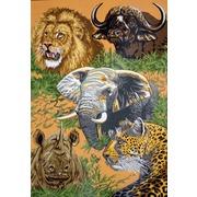 """Канва/ткань с нанесенным рисунком Gobelin-L """"Животные Африки"""""""