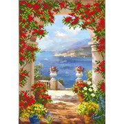 """Канва/ткань с нанесенным рисунком Матрёнин посад """"Цветы средиземноморья"""""""