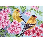 """Набор для вышивания крестом Матрёнин посад """"Птицы в саду"""""""