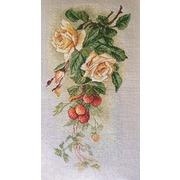 """Набор для вышивания крестом Марья искусница """"Розы и земляника (К. Кляйн)"""""""