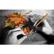 """Канва/ткань с нанесенным рисунком Матрёнин посад """"Рисуем осень"""""""