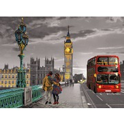 """Канва/ткань с нанесенным рисунком Матрёнин посад """"Небо Лондона"""""""