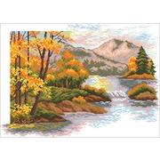 """Набор для вышивания крестом Матрёнин посад """"Осенний закат в горах"""""""