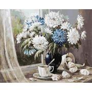 """Набор для раскрашивания Белоснежка """"Хризантемы - цветы запоздалые"""""""