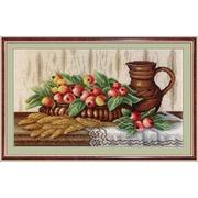 """Набор для вышивания крестом М.П. Студия """"Натюрморт с райскими яблоками"""""""