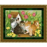 """Набор для вышивания крестом Kustom Krafts Inc. """"Три котенка"""""""