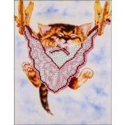 """Набор для вышивания бисером Глурия (Астрея) """"Спящий котенок"""""""